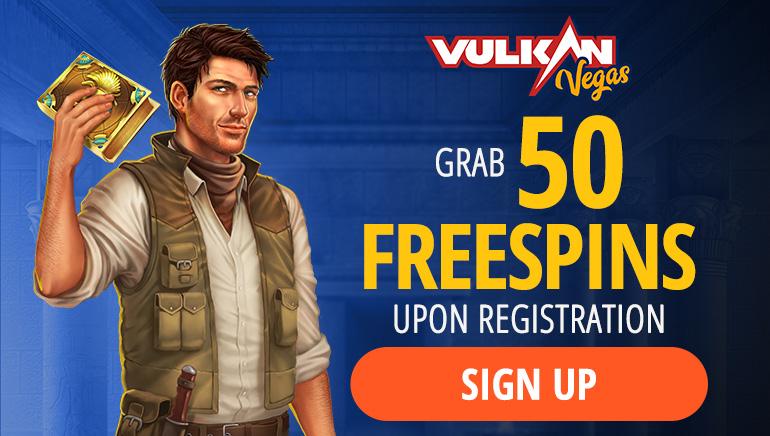 Vulkan Vegas: obtén un bono de bienvenida de 50 tiradas gratis