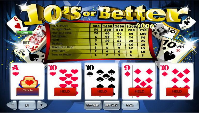 Video Póker online