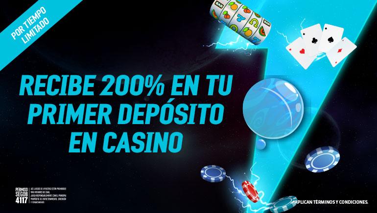 recibe 200% en tu primer deposito en casino